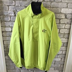 Footjoy DryJoys Golf Half Zip Windbreak Neon Green